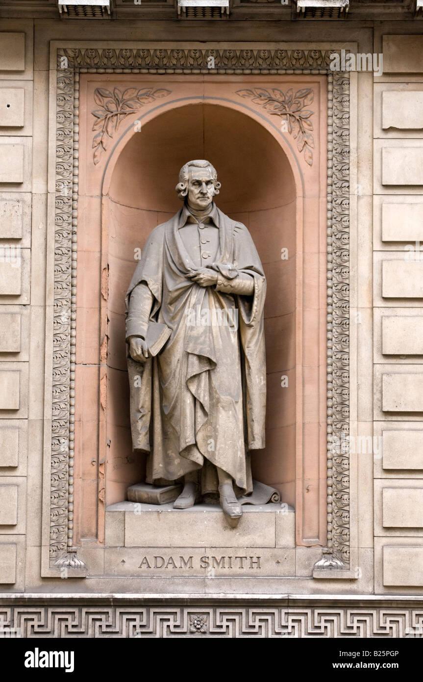 Statue of Adam Smith outside Royal Academy of Arts, London, UK - Stock Image