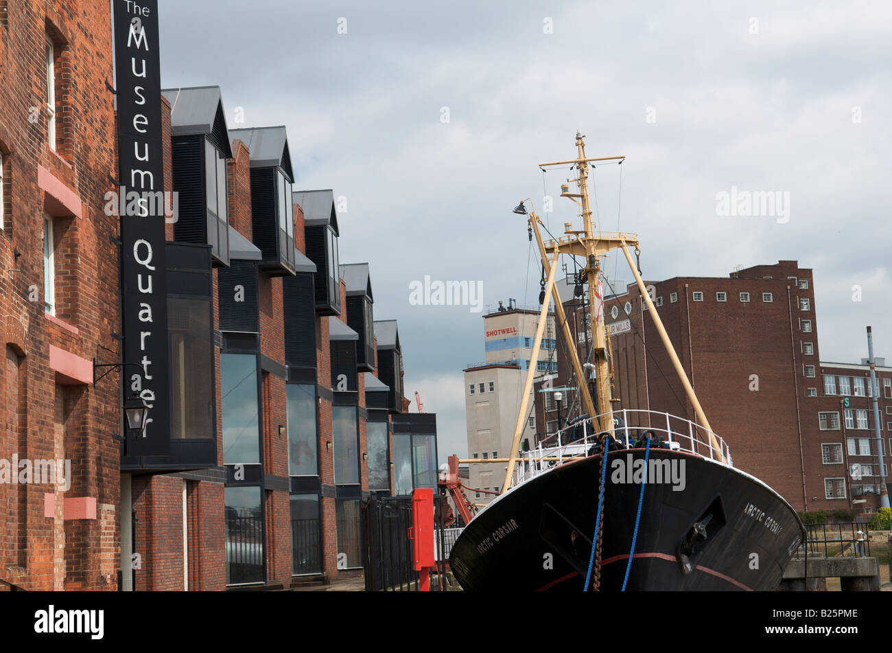 The Arctic Corsair at the Museum Quarter in Kingston upon Hull. - Stock Image