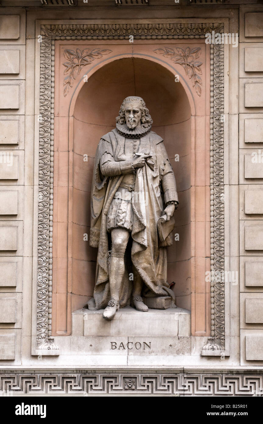 Statue of Francis Bacon outside Royal Academy of Arts, London, England, UK - Stock Image