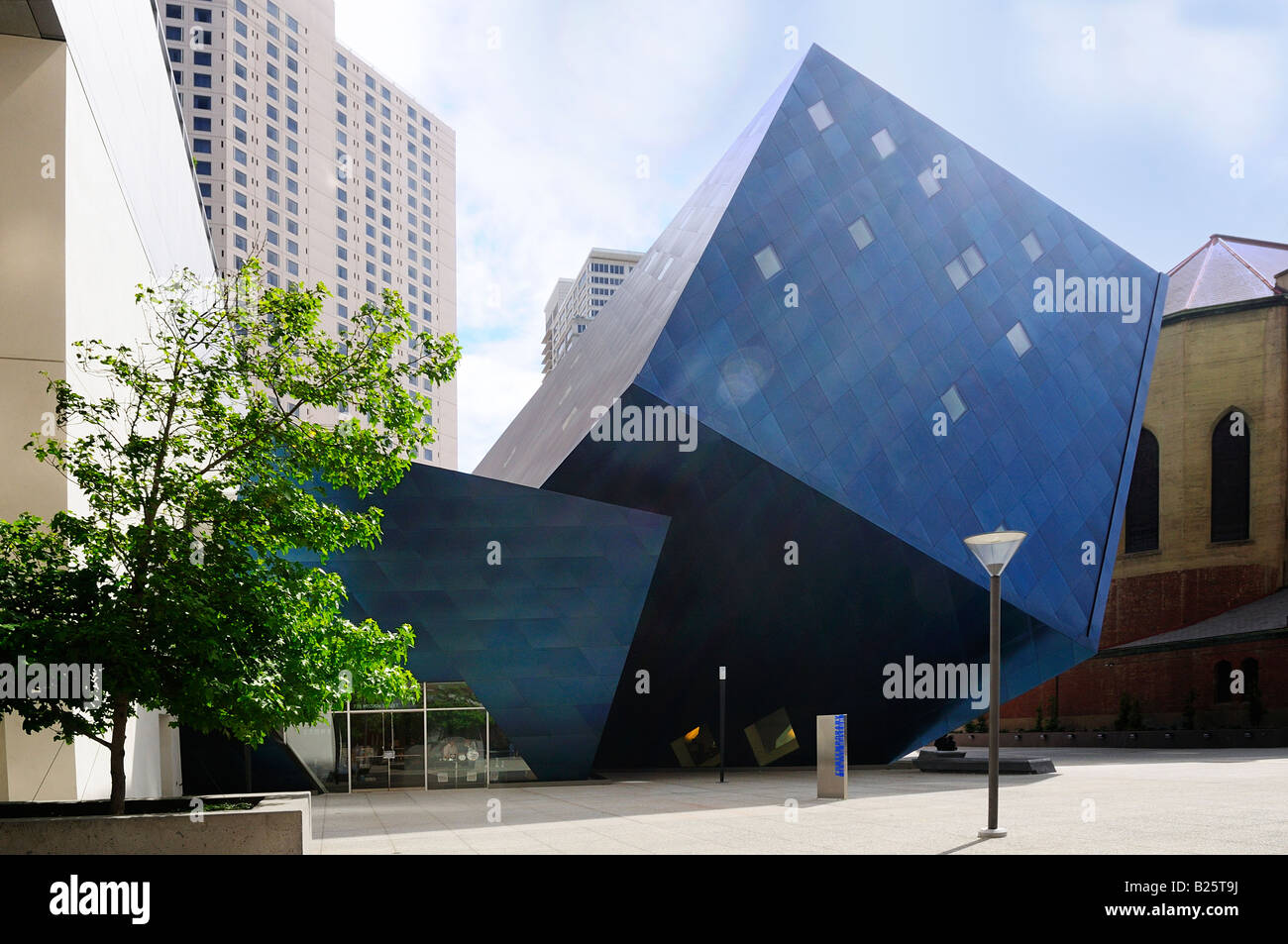 Contemporary Jewish Museum addition designed by Daniel Libeskind in San Francisco California USA - Stock Image