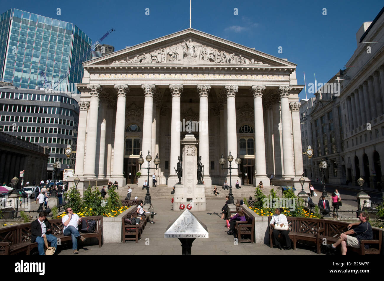The Royal Exchange in the City of London, UK - Stock Image