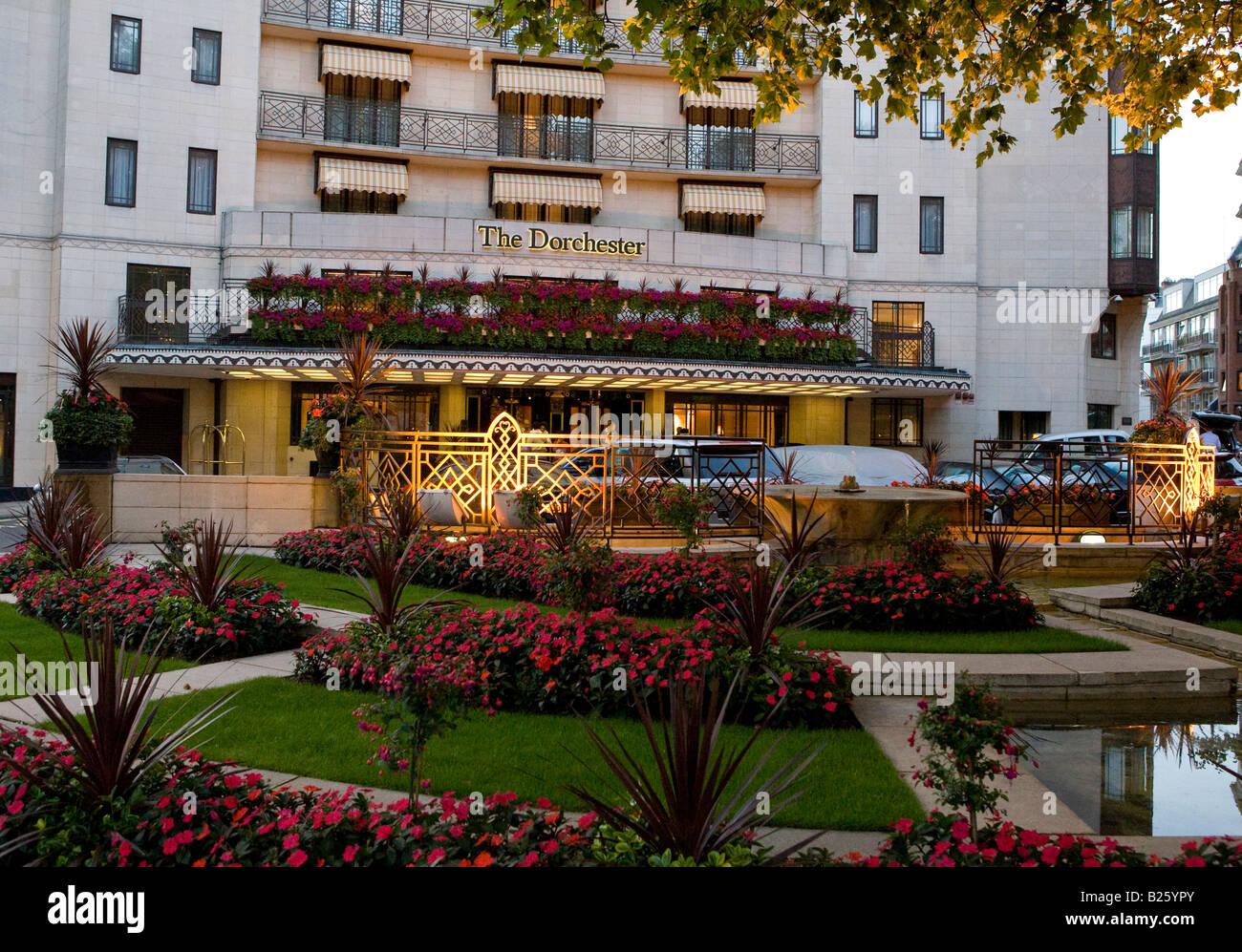 The Dorchester Hotel Park Lane London UK Europe - Stock Image