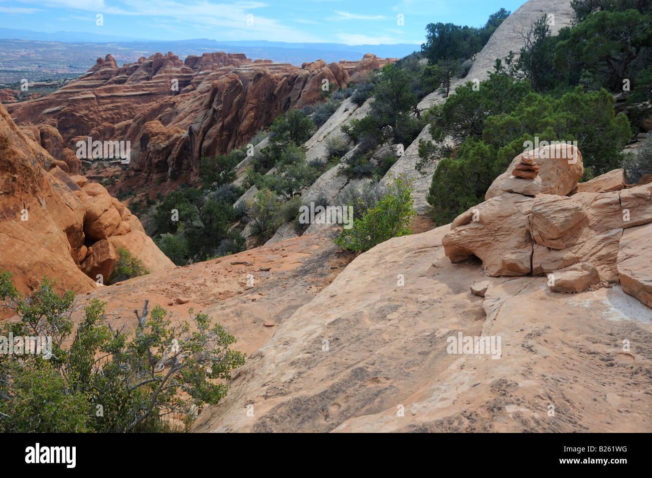 Devil s Garden Trail Arches National Park UT 051001 2931 - Stock Image