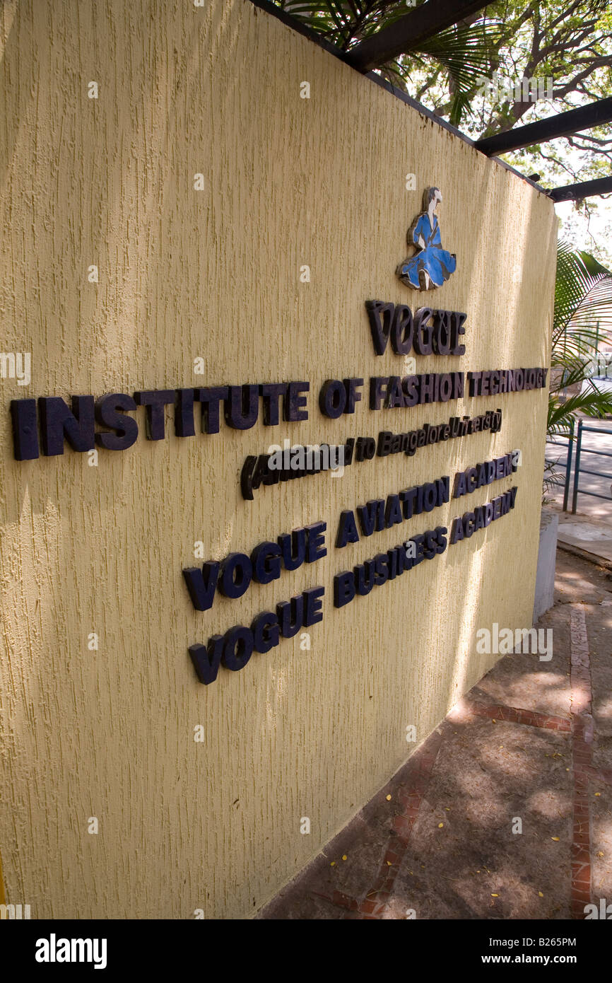 The Vogue Institute Of Fashion Technology In Bangalore India Stock Photo Alamy