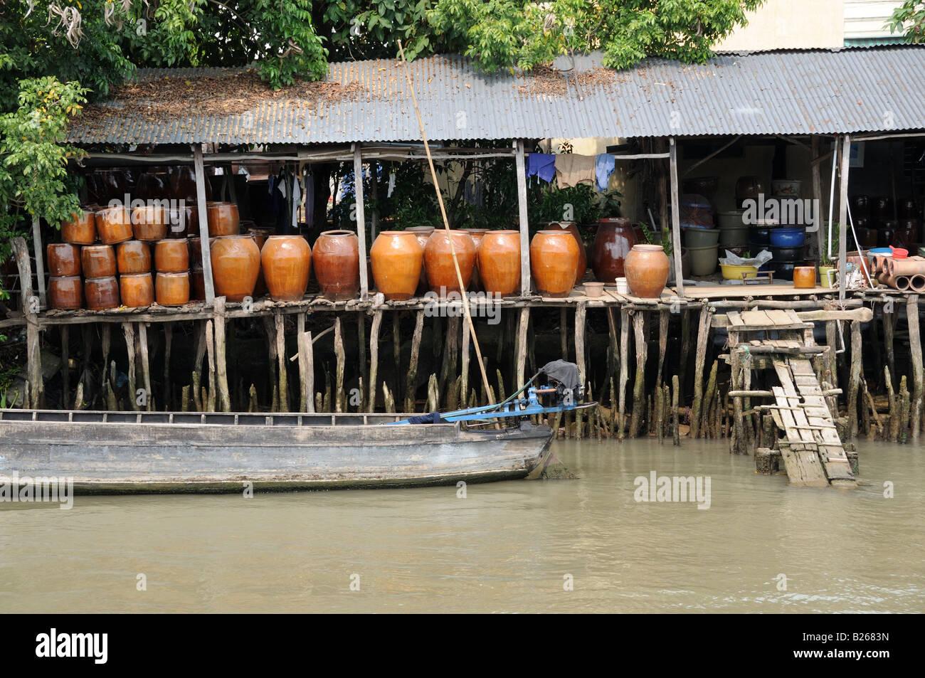 Stilt House Vietnam Stock Photos & Stilt House Vietnam Stock Images