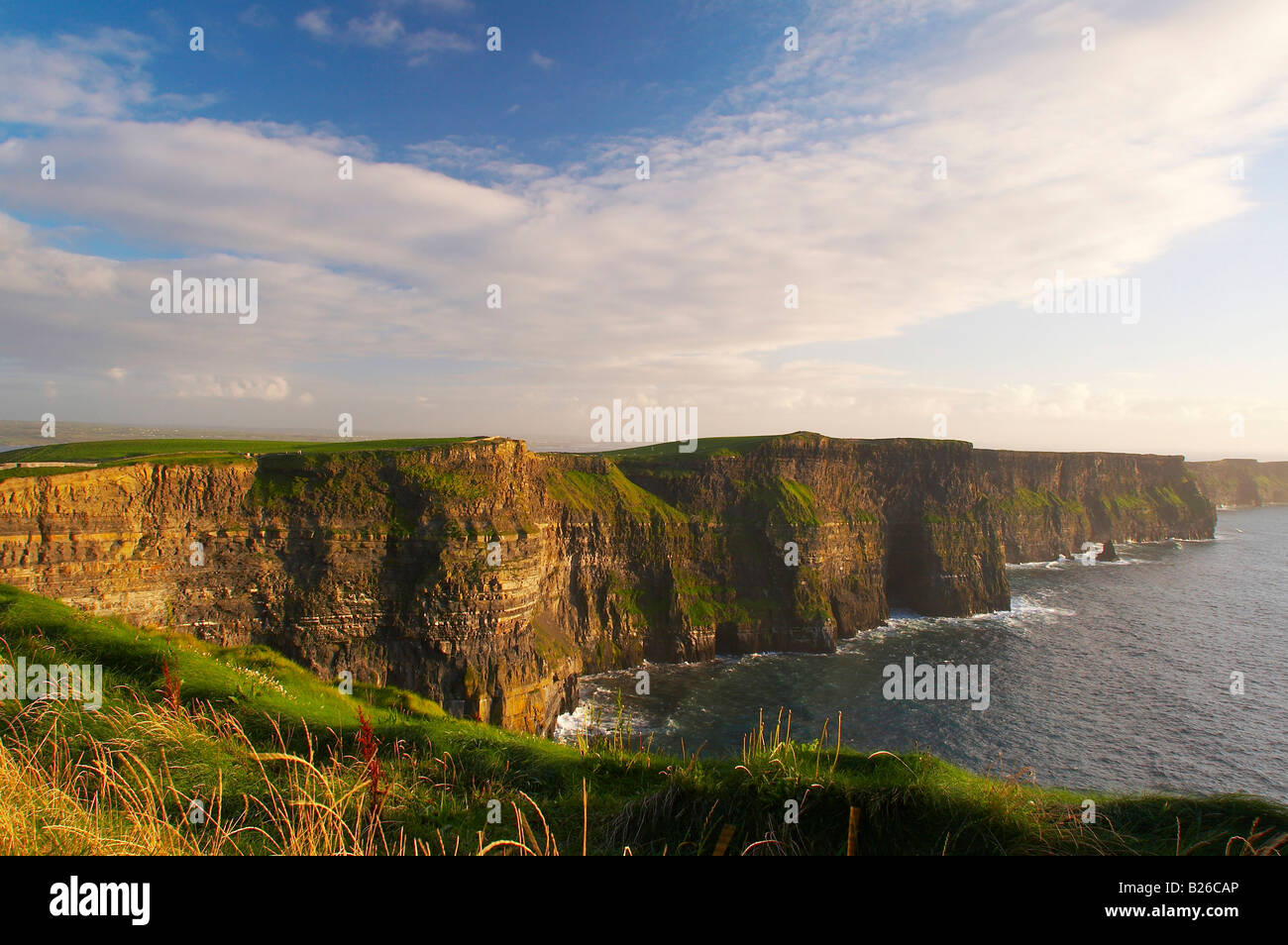 outdoor photo, early evening, Cliffs of Moher, County Clare, Ireland, Europe - Stock Image