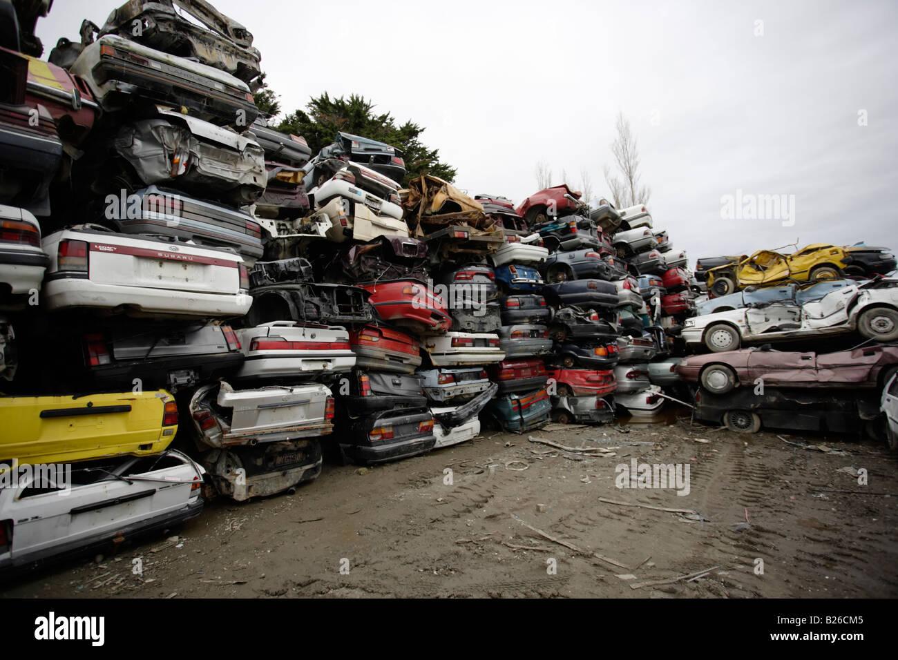 Scrap Car Breakers Yard Stock Photos & Scrap Car Breakers Yard Stock ...
