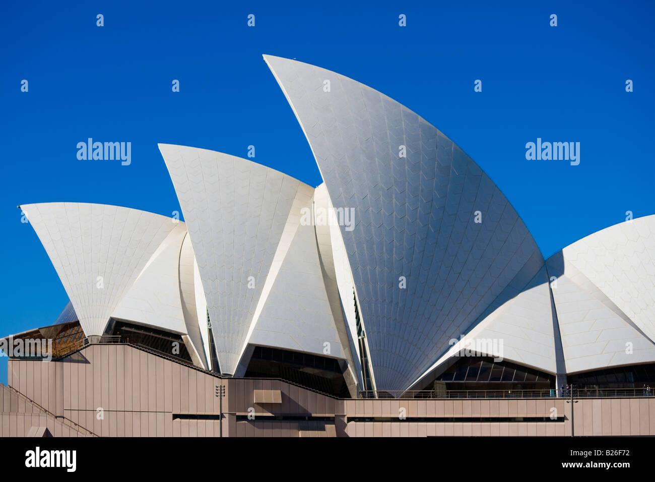 Sydney Opera House on Bennelong Point Sydney NSW Australia Stock Photo
