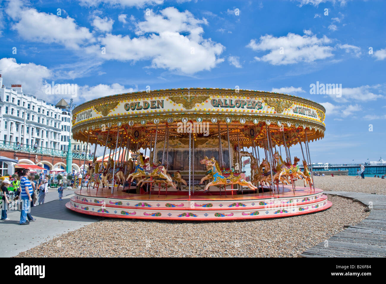 carousel brighton beach carnival old old fashioned circus uk