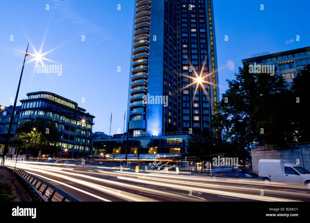 Hilton Hotel Park Lane London UK Europe - Stock Image