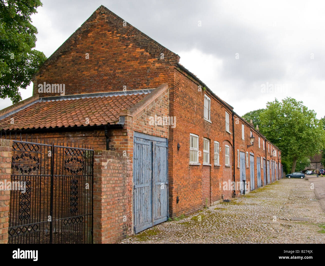 Brick built stables in Cathedral Close Norwich Norfolk England - Stock Image