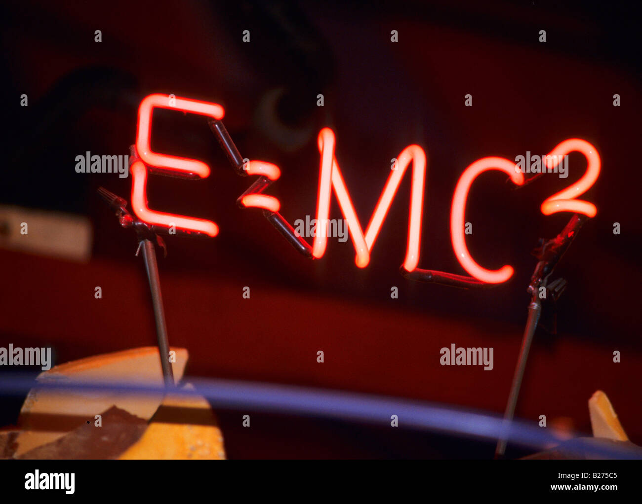 PHYSICS LAB DECORATED WITH EINSTEIN S EQUATION - Stock Image