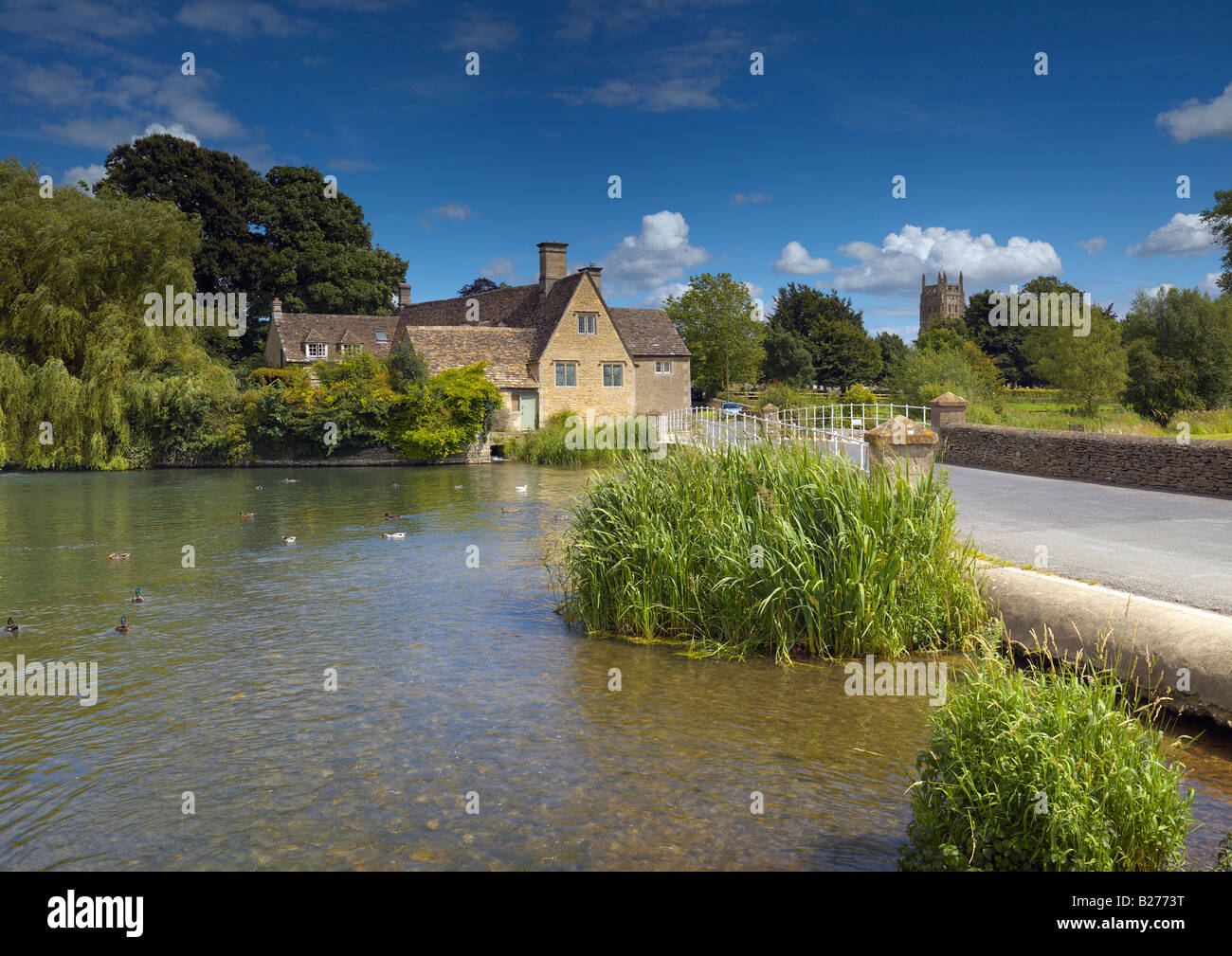 Fairford Mill in the Cotswolds - Stock Image
