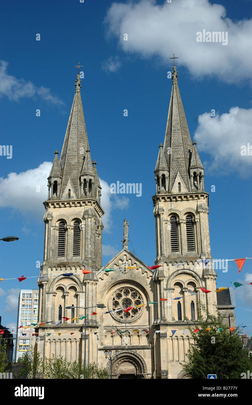 Church in Cherbourg 'northern France' - Stock Image