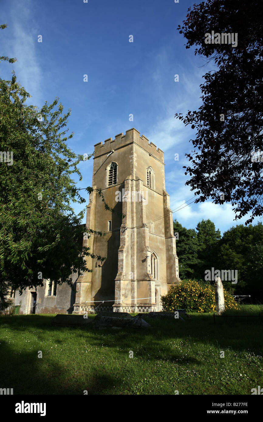View of St Mary s Church Great Bradley Suffolk East Anglia Local Caption www georgeimpeyphotographer co uk - Stock Image