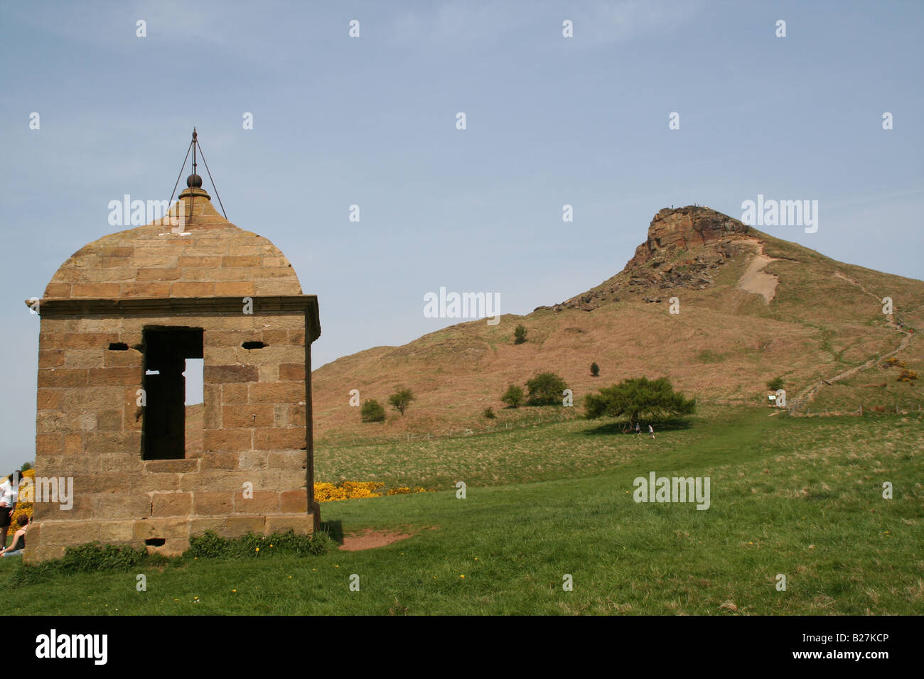 Folly or summerhouse, Roseberry Topping, North Yorkshire - Stock Image