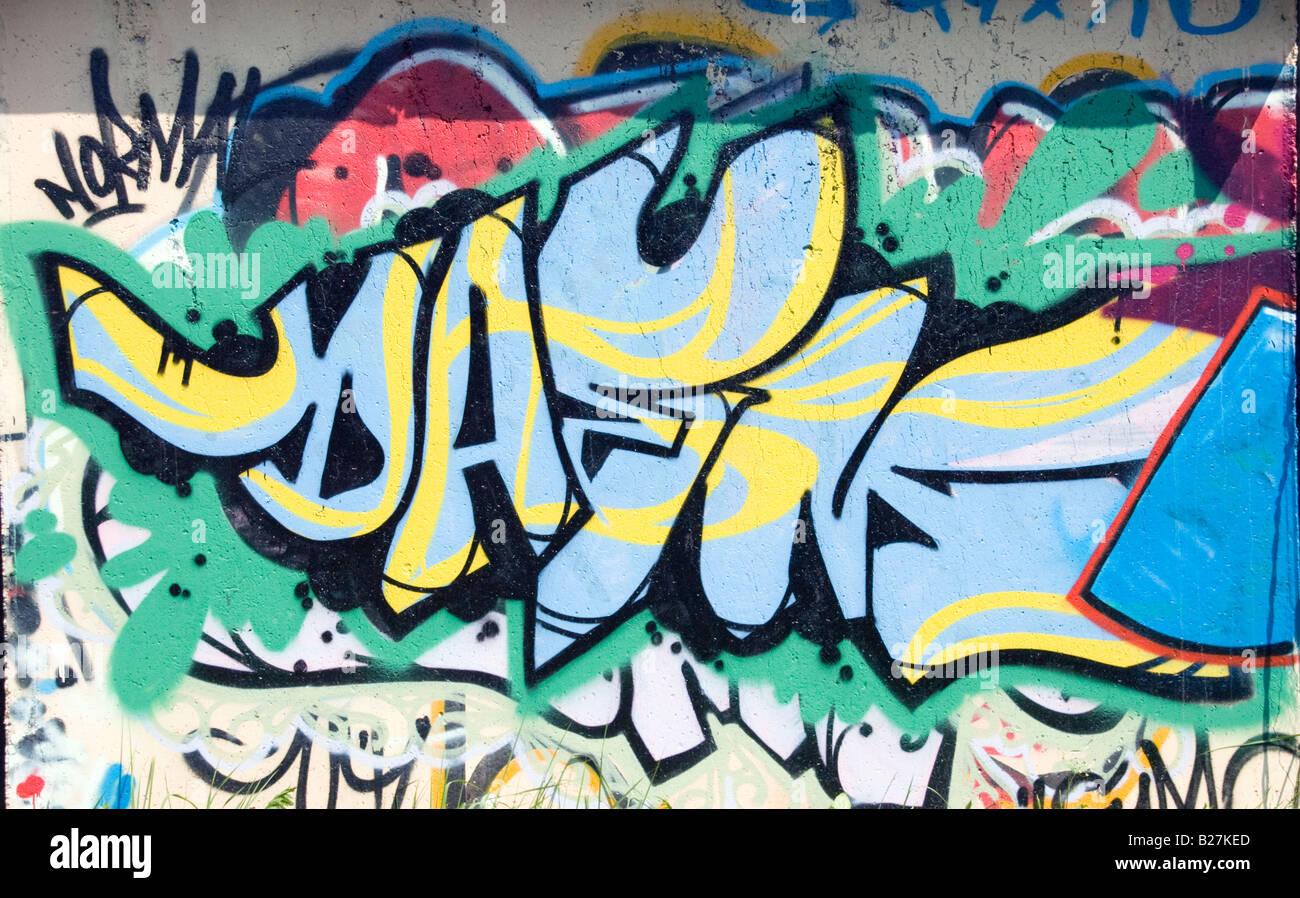 Graffiti lettering stock image