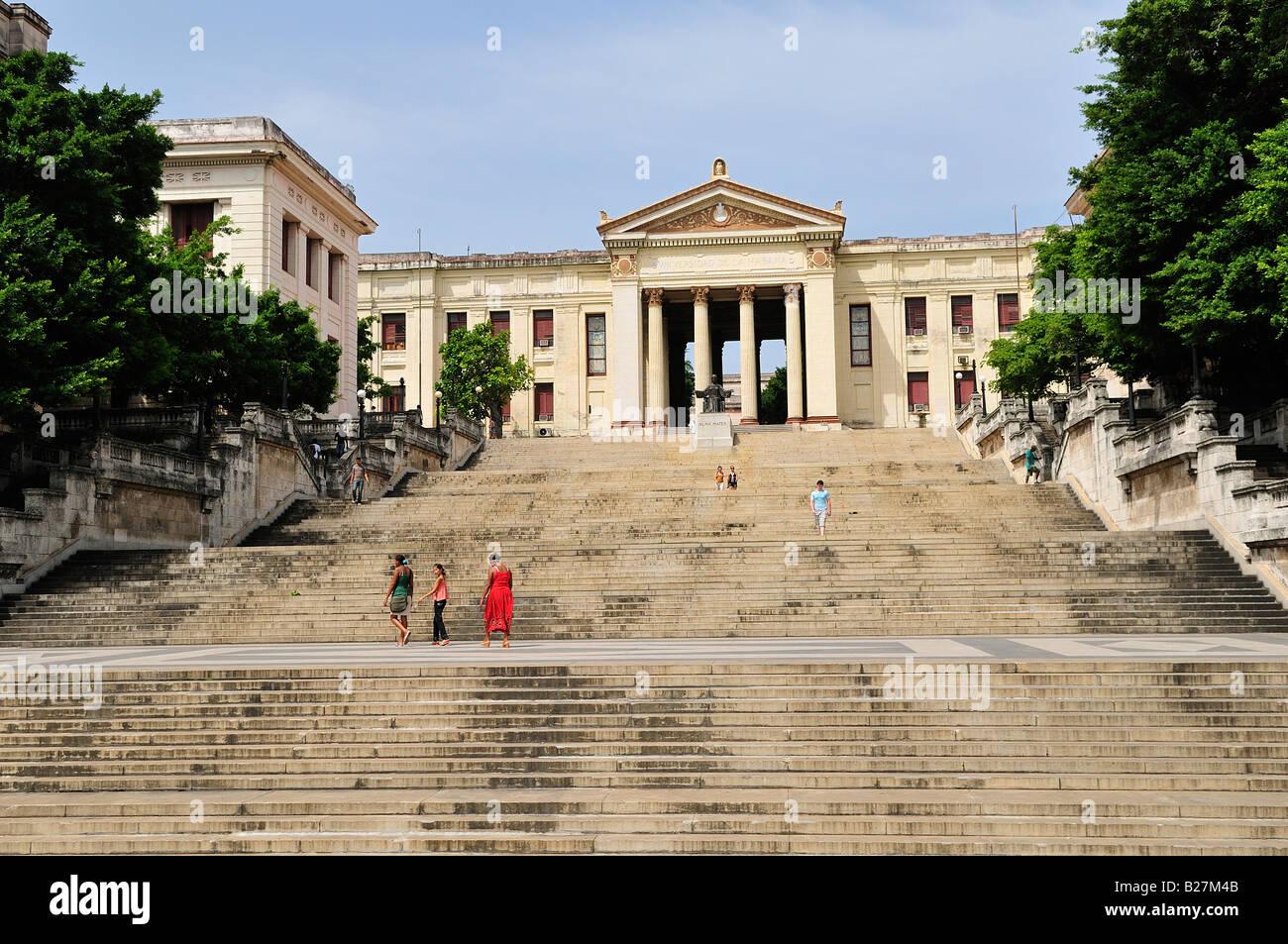 University of Havana Cuba Universidad de la Habana Vedado - Stock Image