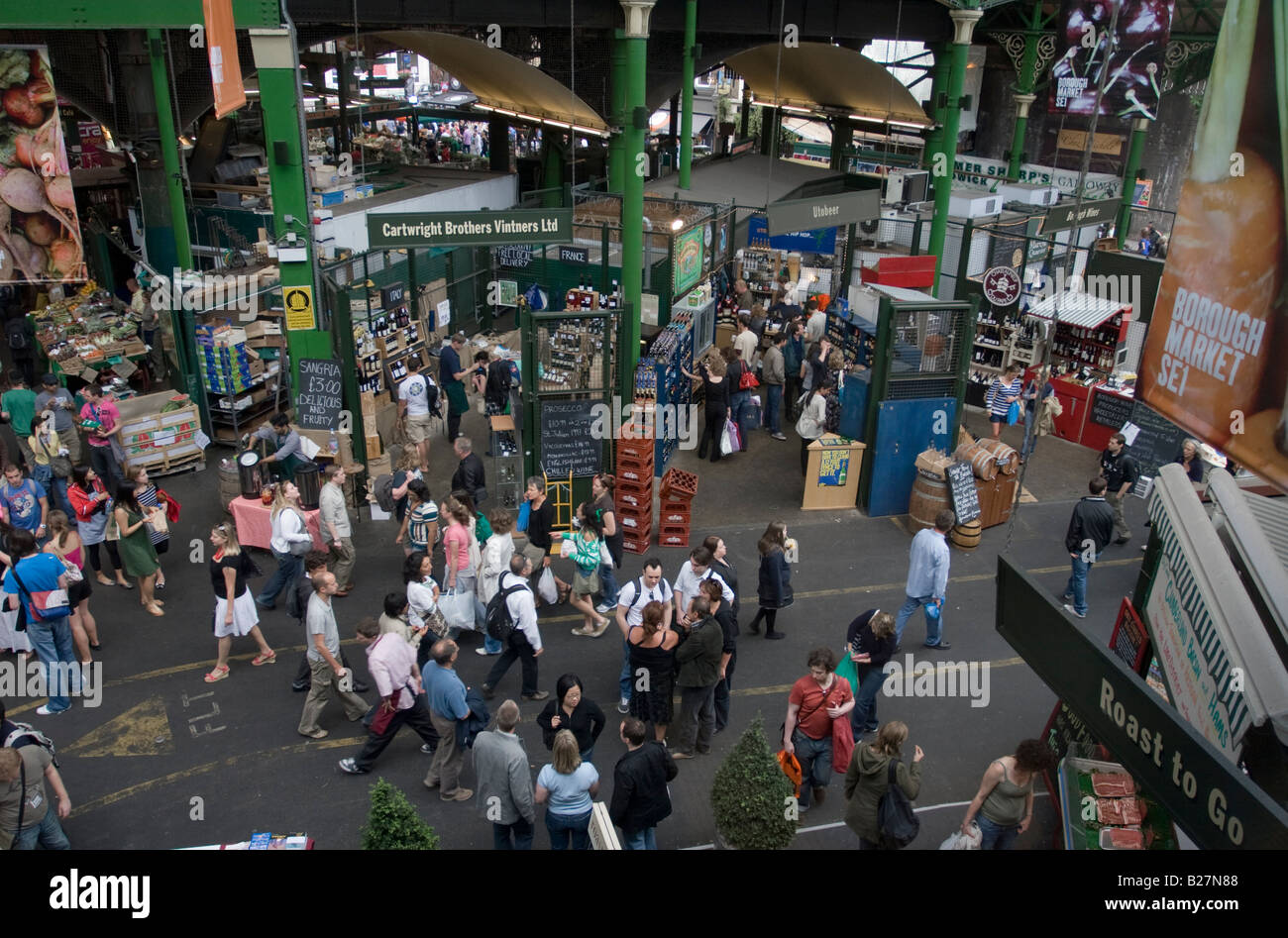 Borough Market - Southwark - London - Stock Image
