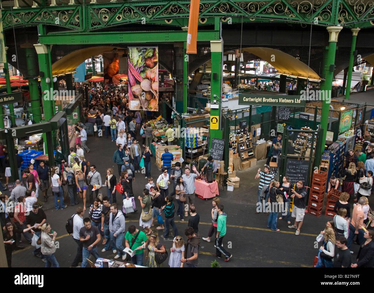Borough Market - Southwark - London - Stock Image