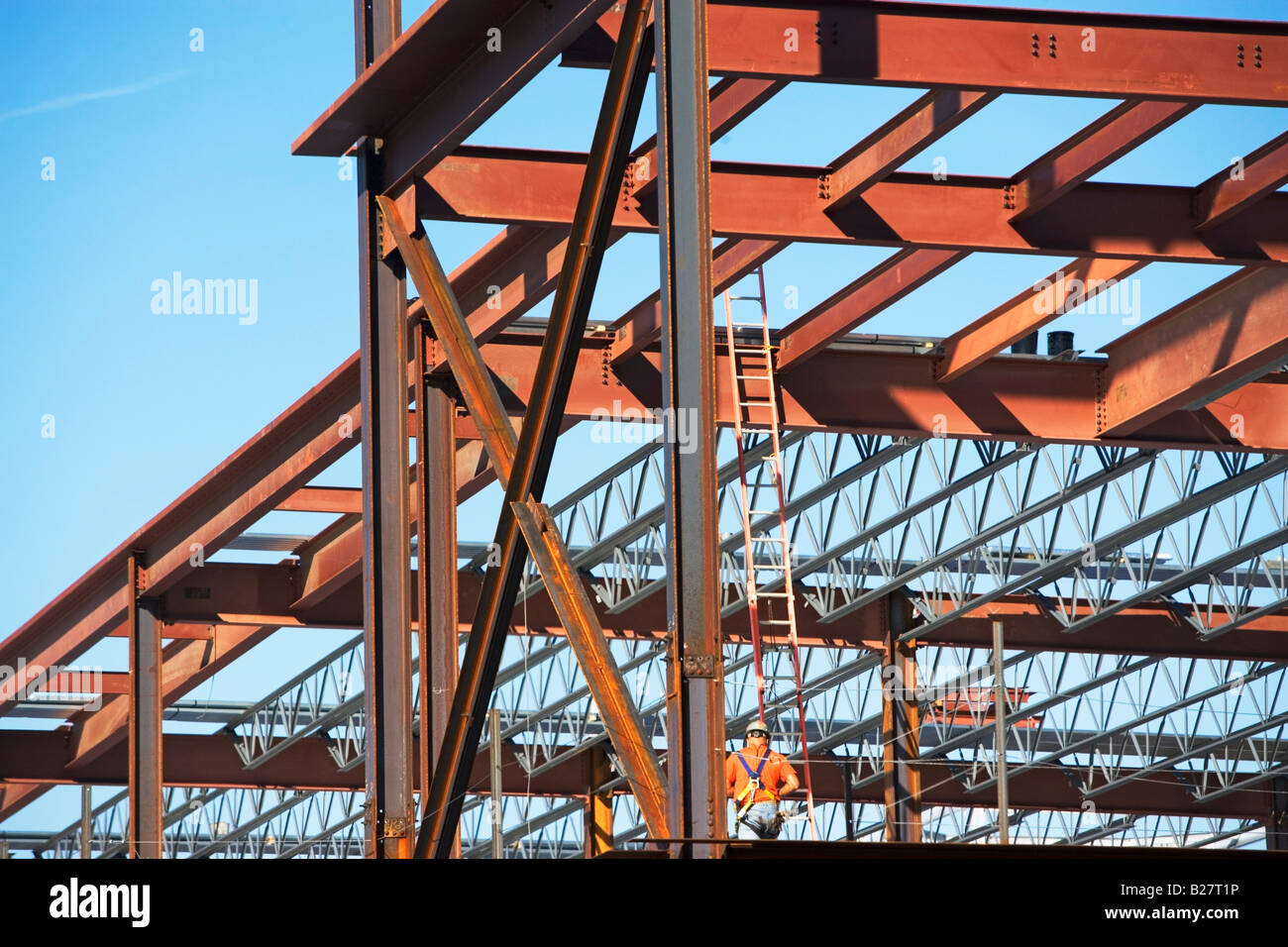Commercial construction site, New York City, New York, United States Stock Photo