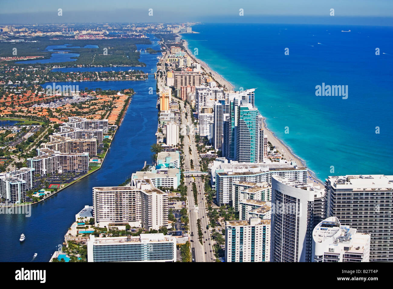 Aerial view of Fort Lauderdale, Florida, United States Stock Photo