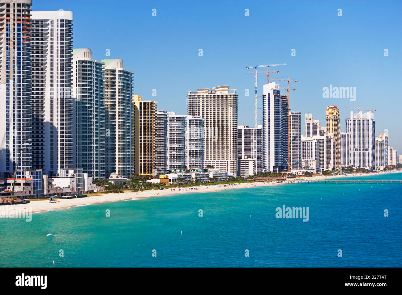 Condominiums along shore, Fort Lauderdale, Florida, United States Stock Photo