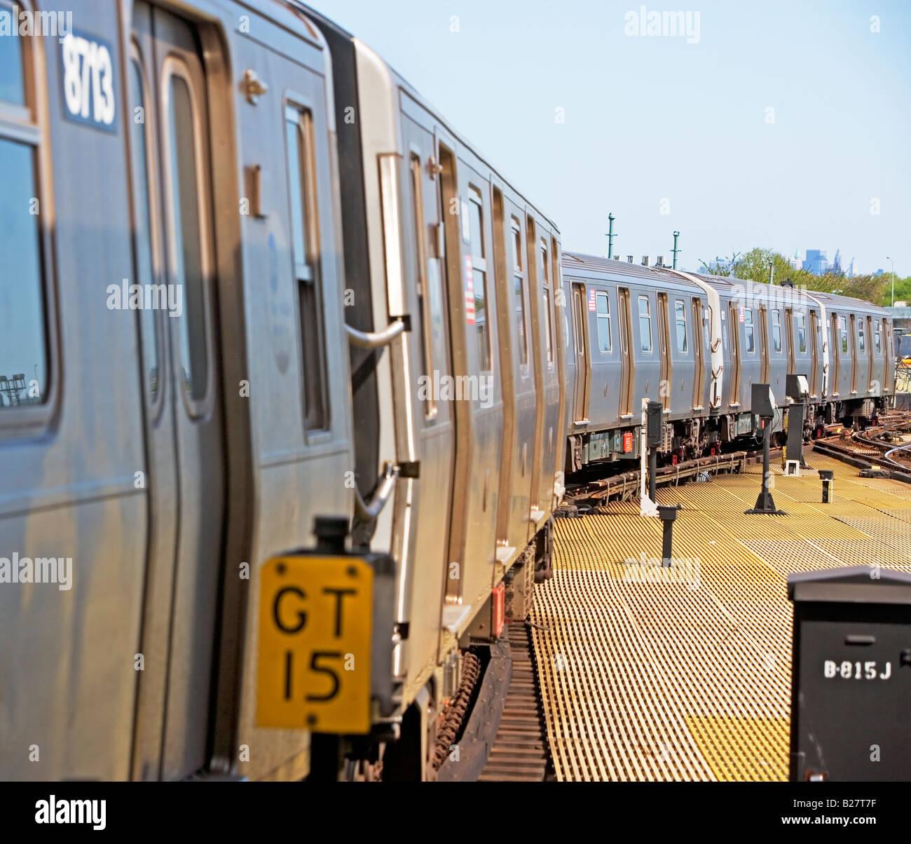 Subway train, New York City, New York, United States - Stock Image