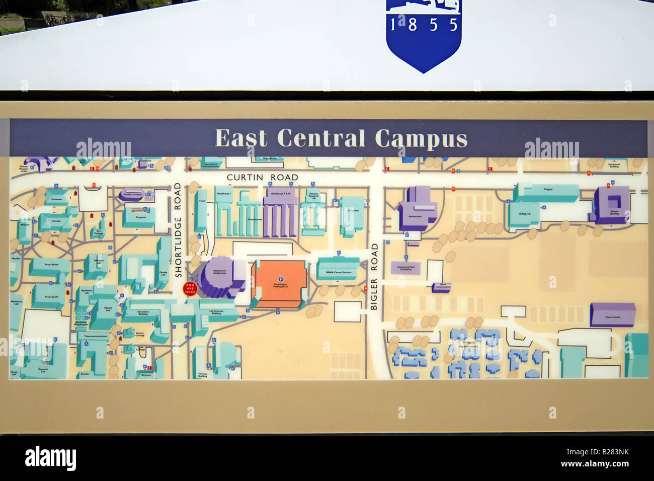 Map of the East Campus of Penn State University State ...