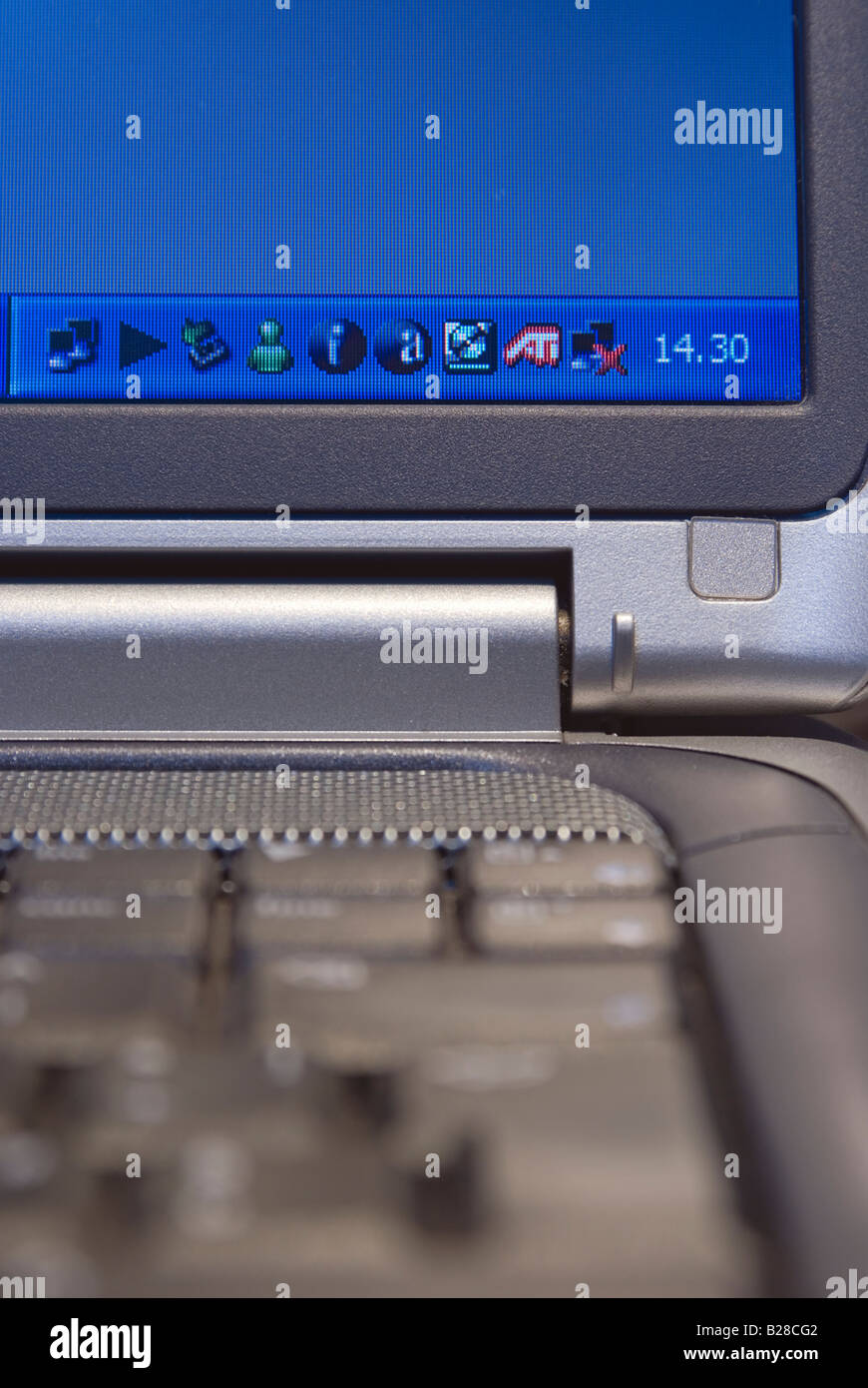 icons on computer screen - Stock Image