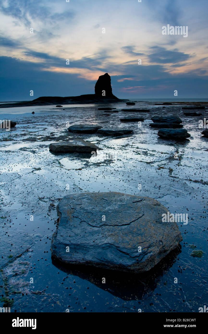 Saltwick Nab near Whitby North Yorkshire Coast - Stock Image