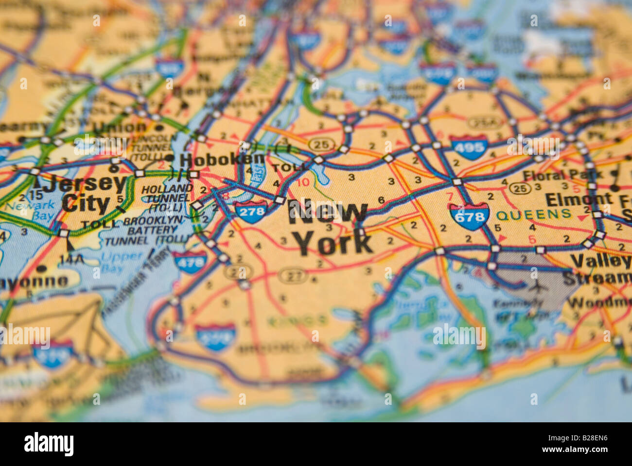 Geographical Map Of New York.New York Road Map Stock Photo 18626866 Alamy