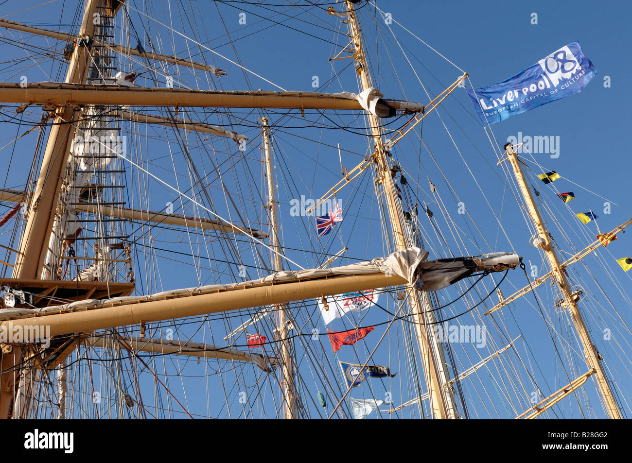 Tall ships Albert Dock Liverpool 2008 - Stock Image