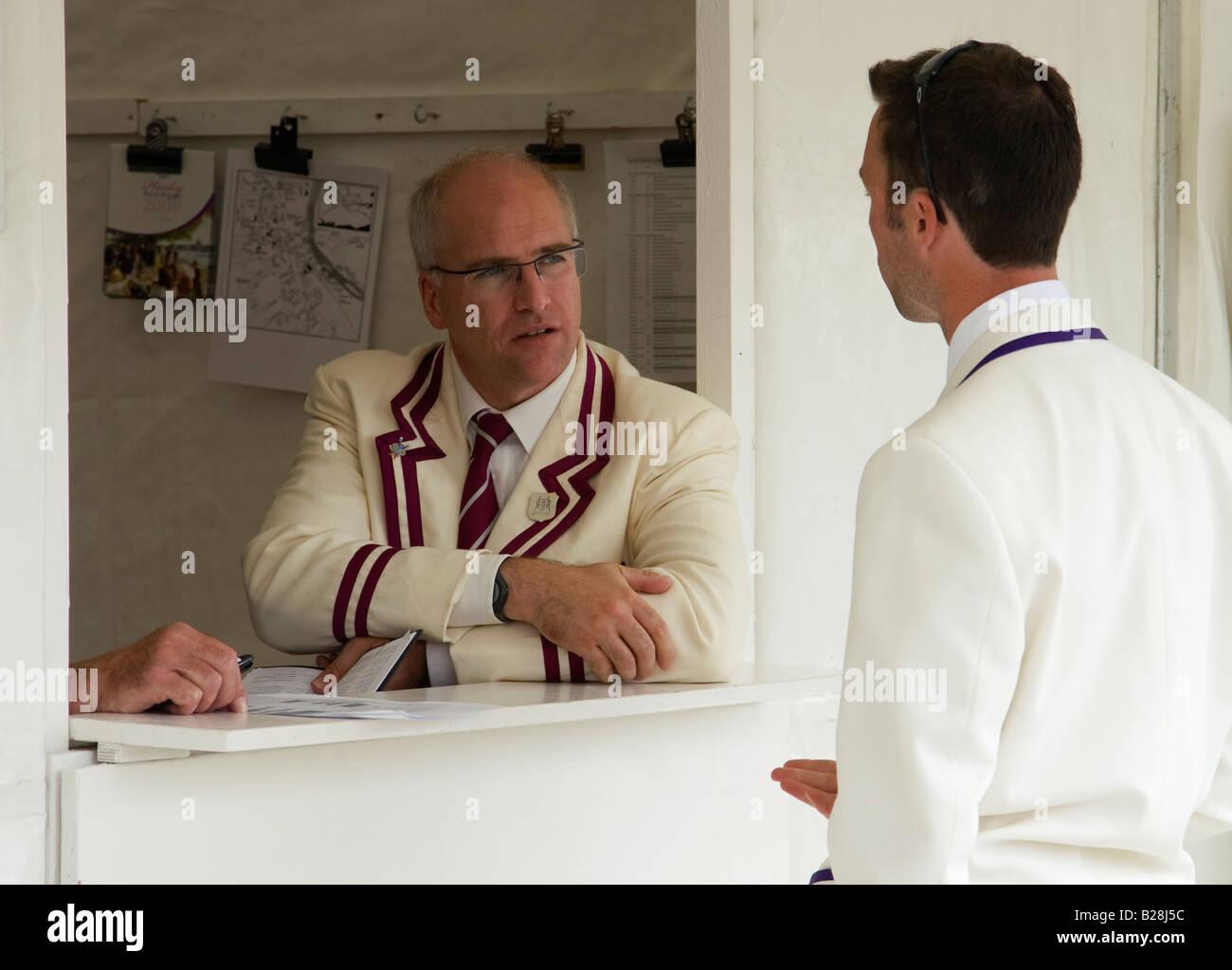 Official at Henley Royal regatta - Stock Image