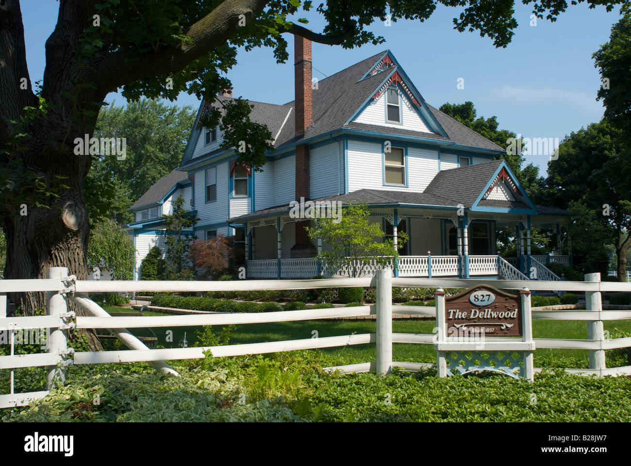 The Dellwood victorian home in Put in Bay Ohio - Stock Image