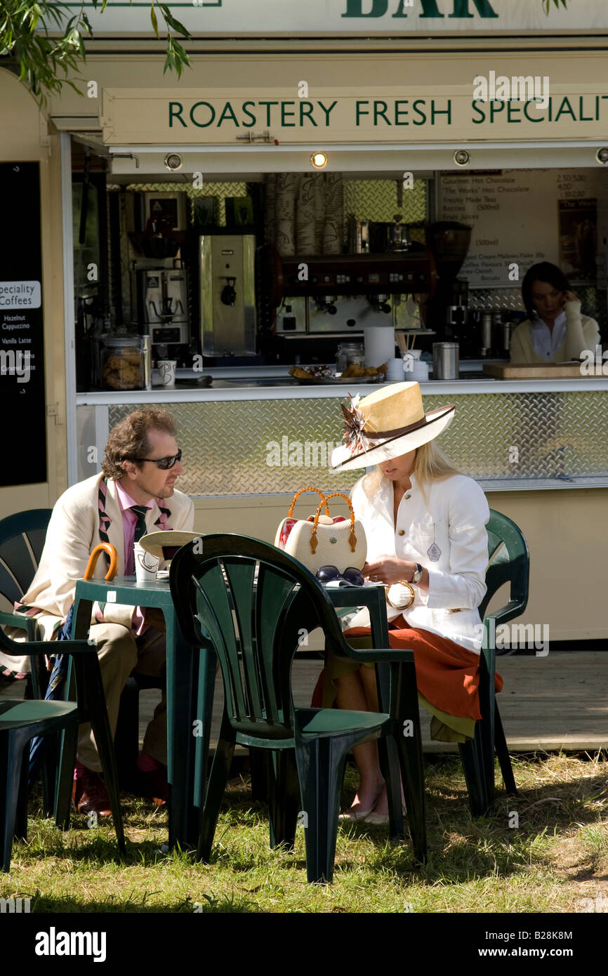 Coffee break at Henley Royal Regatta '08 - Stock Image