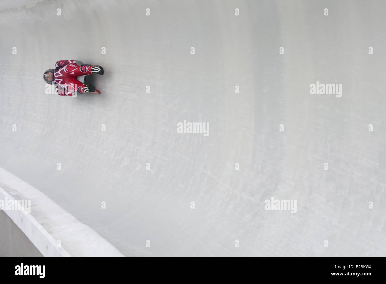 Louge at the Whistler Sleding Centre British Columbia Canada Stock Photo