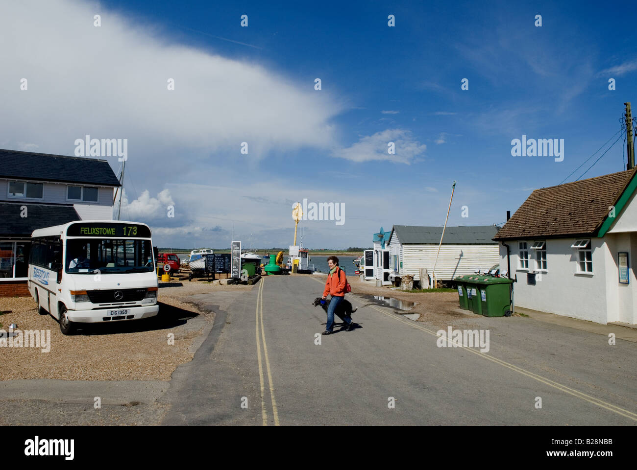 Felixstowe Ferry, Suffolk, UK. - Stock Image