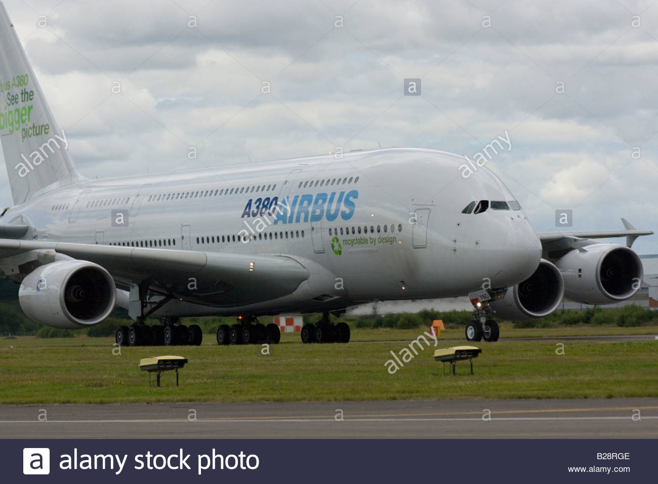 Airbus A380 Farnborough 2008  Commercial Airliner - Stock Image