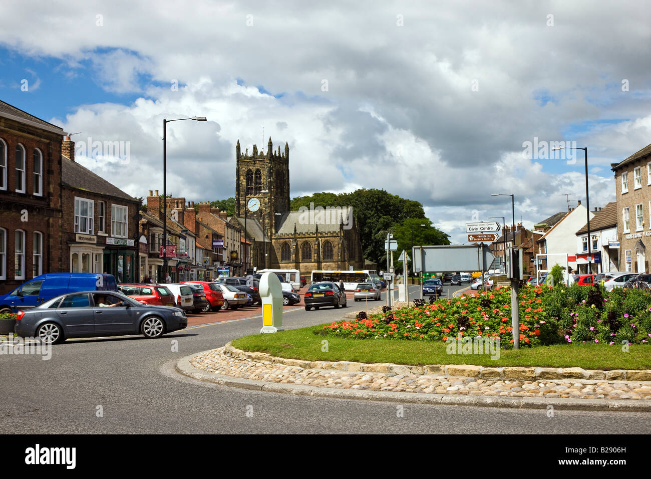 North End Northallerton North Yorkshire - Stock Image