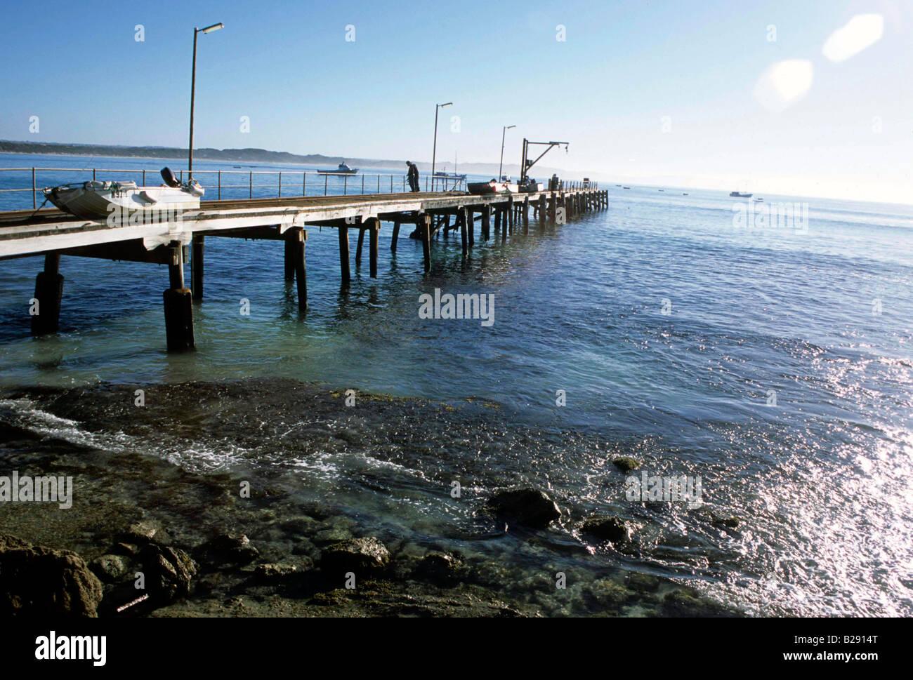 Pier Kangaroo Island Australia Date 23 04 2008 Ref ZB955 113876 0010 COMPULSORY CREDIT World Pictures Photoshot - Stock Image