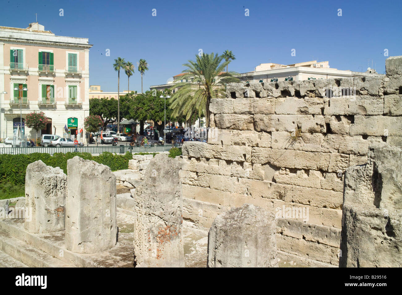 Temple of Apollo Syracusa Sicily Date 28 05 2008 Ref ZB693 114320 0032 COMPULSORY CREDIT World Pictures Photoshot - Stock Image