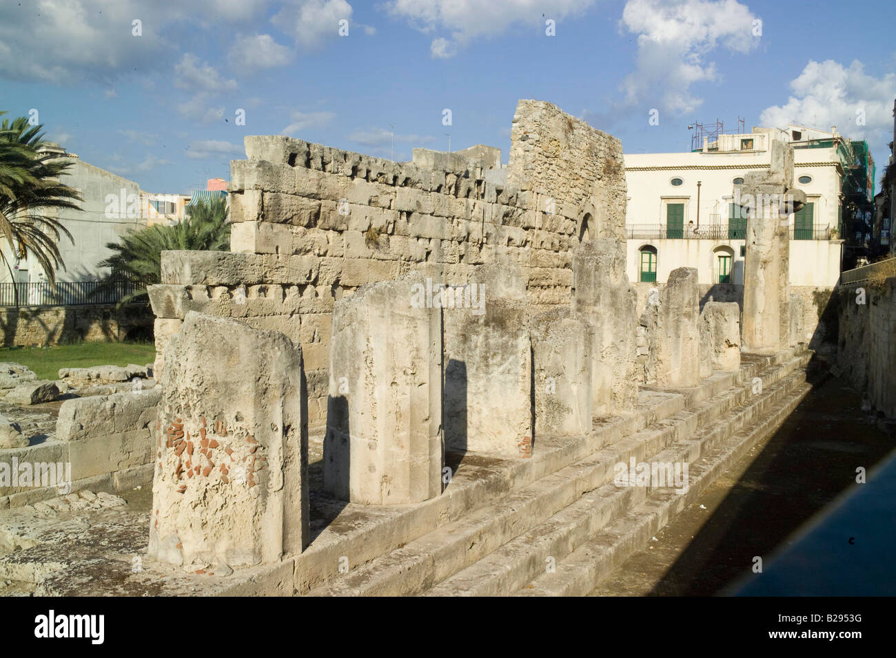 Temple of Apollo Syracusa Sicily Date 28 05 2008 Ref ZB693 114320 0073 COMPULSORY CREDIT World Pictures Photoshot - Stock Image