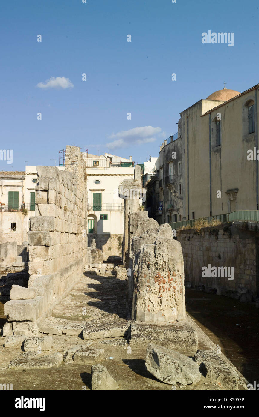 Temple of Apollo Syracusa Sicily Date 28 05 2008 Ref ZB693 114320 0075 COMPULSORY CREDIT World Pictures Photoshot - Stock Image