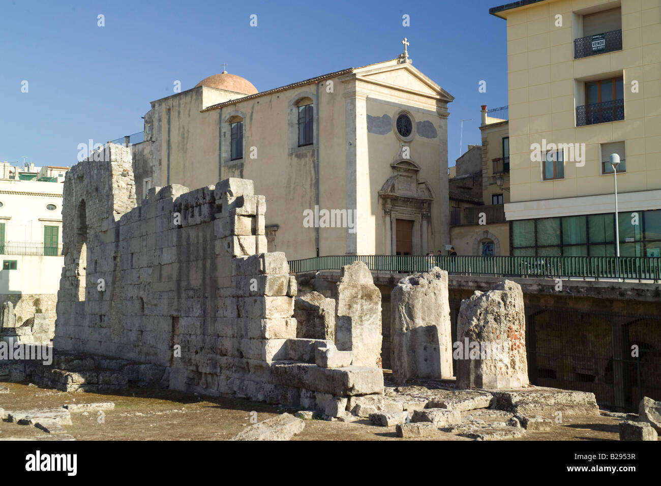 Temple of Apollo Syracusa Sicily Date 28 05 2008 Ref ZB693 114320 0076 COMPULSORY CREDIT World Pictures Photoshot - Stock Image