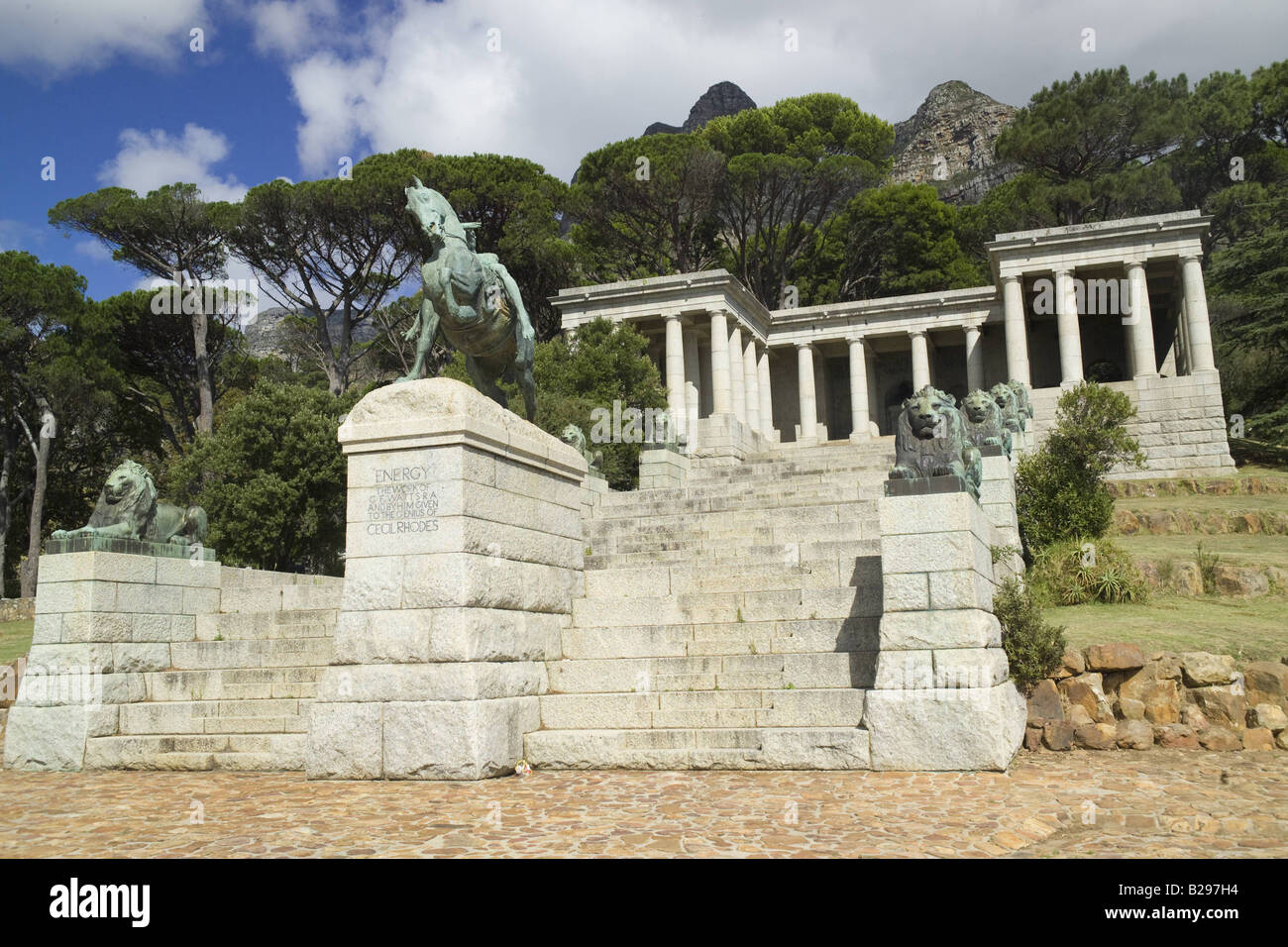 Cecil Rhodes Monument Cape Town South Africa Ref WP TARU 000661 0255 Date COMPULSORY CREDIT World Pictures Photoshot - Stock Image