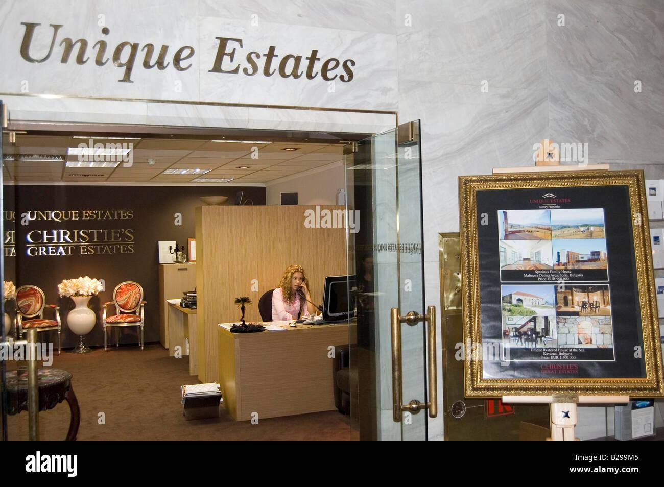 Unique Estates property company in Sofia - Stock Image