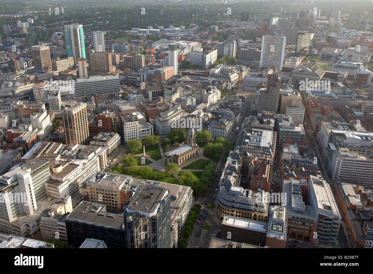 Birmingham and Cathedral Date 12 03 2008 Ref ZB648 111149 0001 COMPULSORY CREDIT World Pictures Photoshot - Stock Image