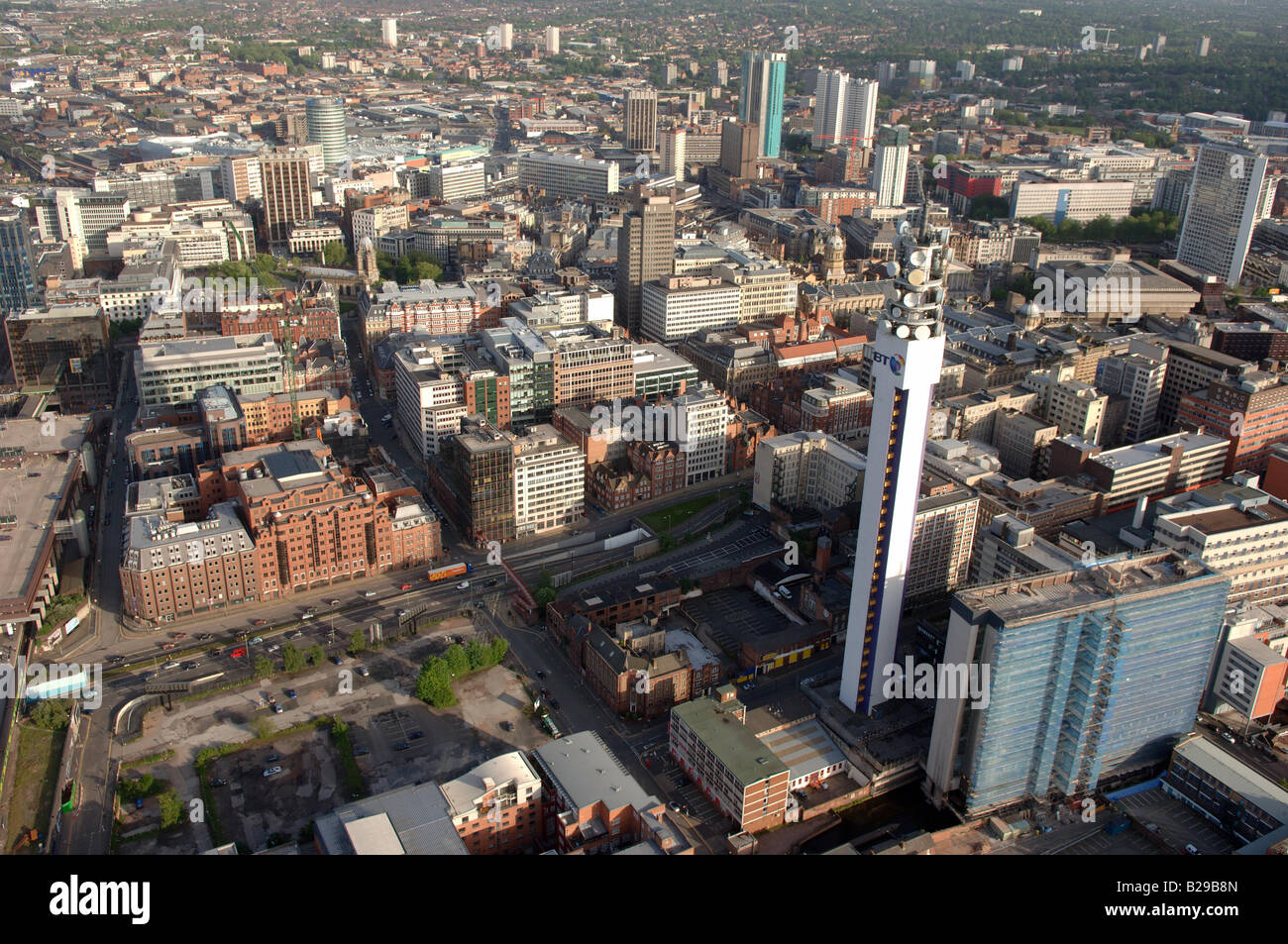 Birmingham Centre and BT Tower Date 12 03 2008 Ref ZB648 111149 0011 COMPULSORY CREDIT World Pictures Photoshot - Stock Image