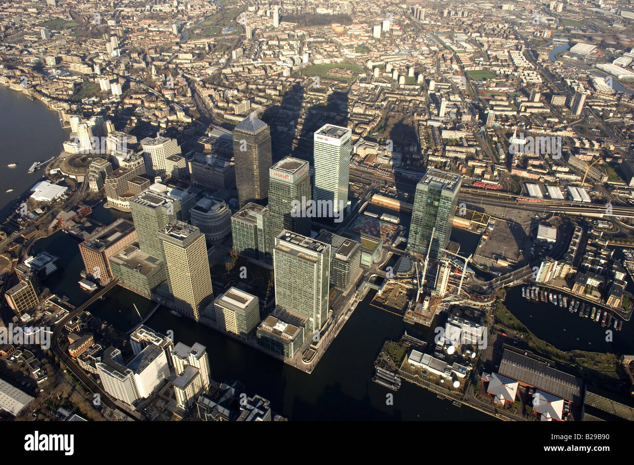 Canary Wharf Date 12 03 2008 Ref ZB648 111149 0014 COMPULSORY CREDIT World Pictures Photoshot - Stock Image